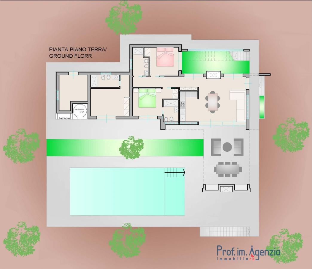 Vendita ville con piscina s vito dei n incantevole - Planimetria casa moderna ...