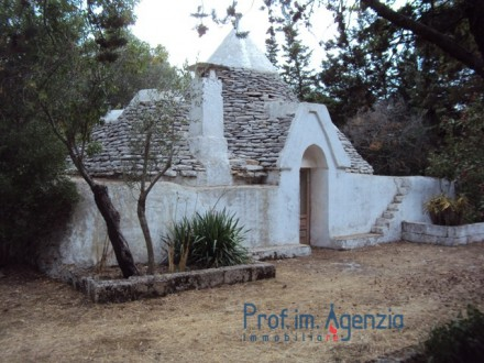 Pretty Trullo on a plot of land of olive grove, orchard and almond trees