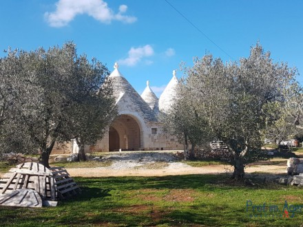 Partially renovated trullo